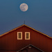 Moon Over Red Barn by farmreporter