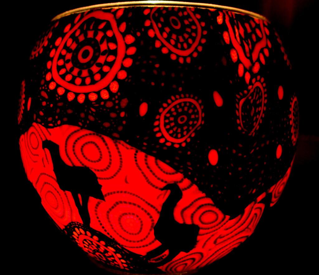 Candle holder.  Aboriginal design by 777margo