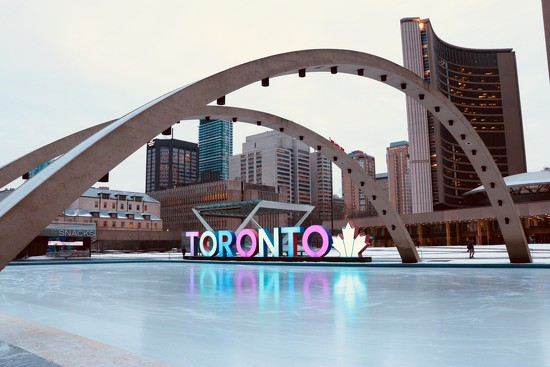 Toronto Nathan's Phillips Square Ice Rink by chloette