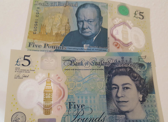 94 Five Pound Notes by travel