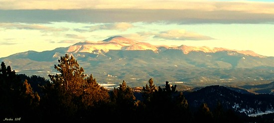 Pikes Peak From Wilkerson's Pass  by harbie