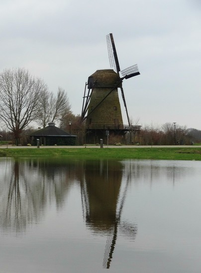 mill and reflection by gijsje
