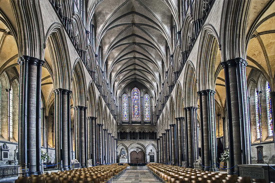 Interior - Salisbury Cathedral by megpicatilly