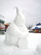9th Feb 2018 - Rabbit Snow Sculture