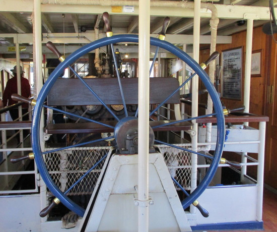 Wheel of a paddle steamer.  River Murray by 777margo