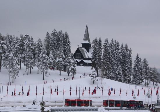Snowy scene in Oslo by busylady