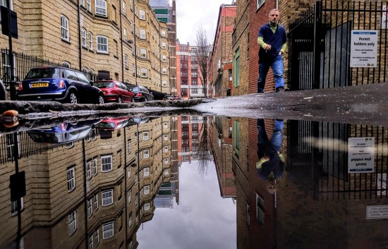 Man in the puddle by boxplayer