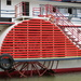 This is a half covered Water wheel protecter on a River Murray Paddle Steamer