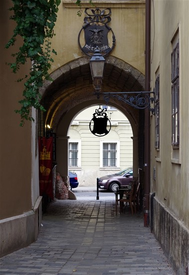a narrow street in the castle discrict by borof