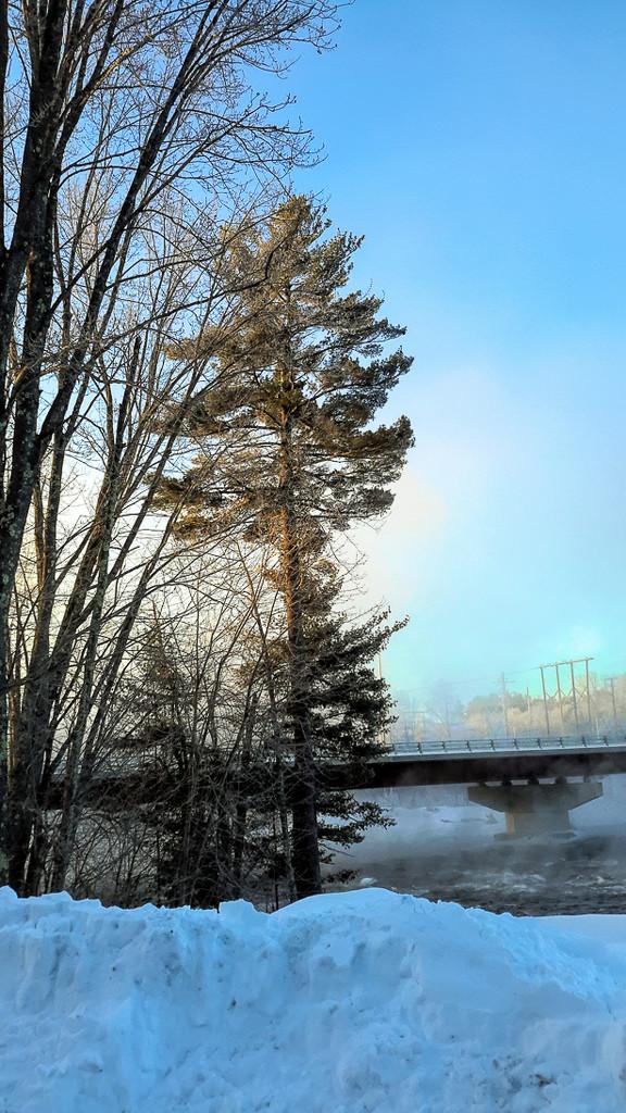 Misty Saco River by joansmor
