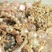 """Cadence and Claire's """"play dress up"""" costume jewelry"""