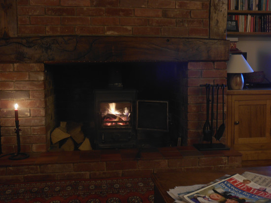 A lazy afternoon by the fireside. by snowy