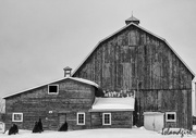 18th Feb 2018 - Red Barn in b&W