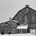 Red Barn in b&W
