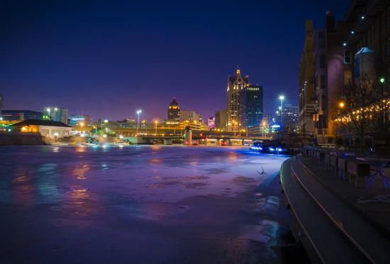 Winter River Colors by myhrhelper