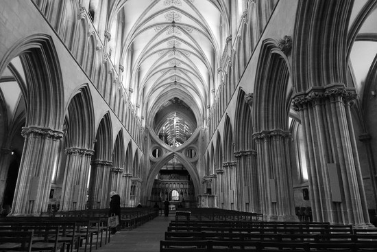 Wells Cathedral: scissor arches by quietpurplehaze