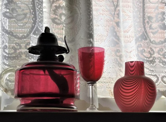 Old Pink Glass. by boatman137