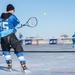 Pond tennis played between hockey games