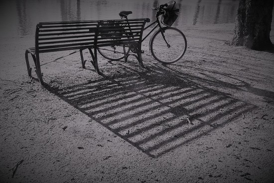 Bench and Bike by helenhall