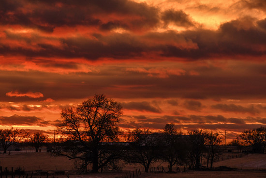 Lovely End of a Woefully Winter Day by kareenking