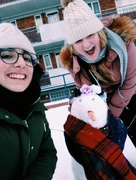 28th Feb 2018 - Chiara and I made a snowman called Peggy :)