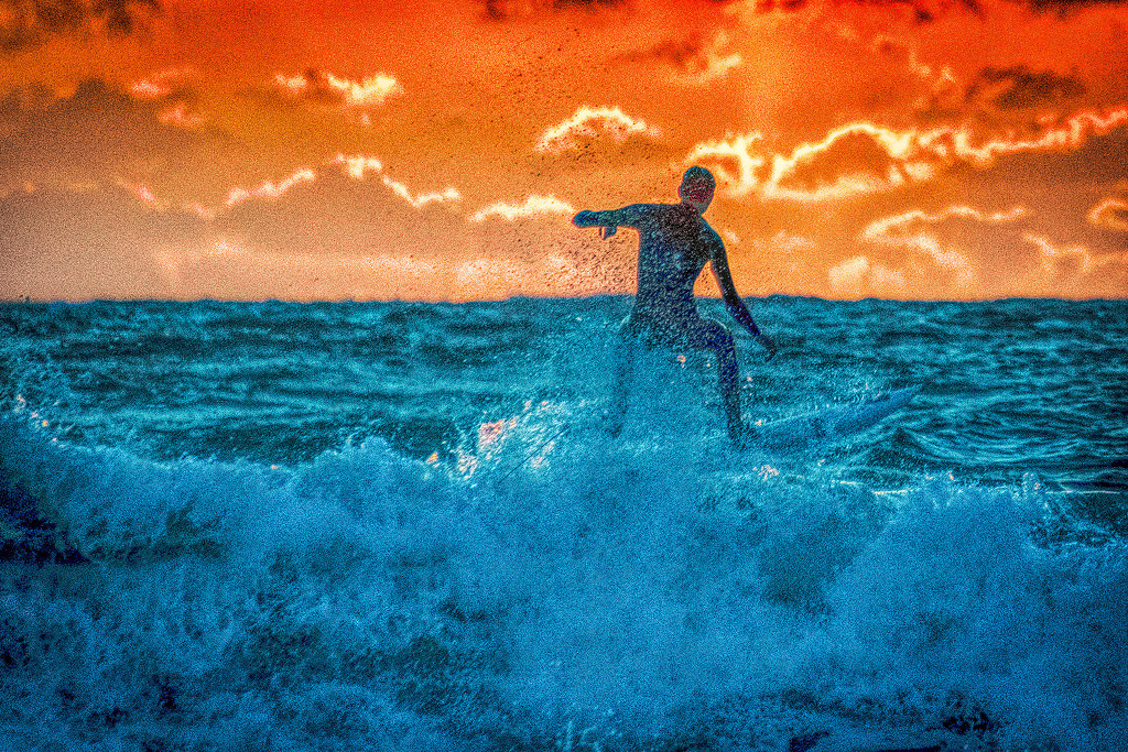 Skimming at Sunset by stray_shooter