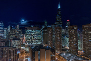 1st Mar 2018 - Moon Rise Over Chicago