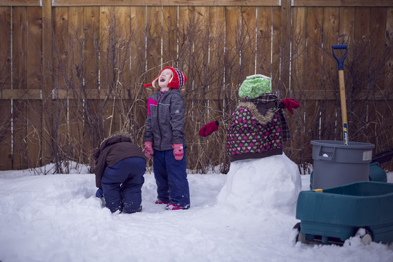 Snow man by jessiolsenphotography