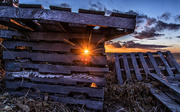 5th Mar 2018 - sunset through old pallets
