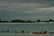 7th Mar 2018 - Kayakers near Cave Rock, Sumner New Zealand