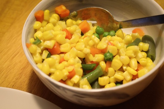 Yellow corn by mittens