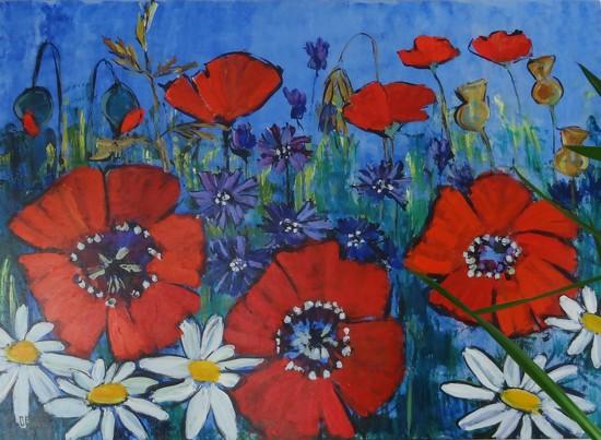 poppies in the field by gijsje
