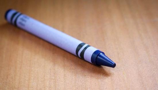 Indigo crayon by mittens