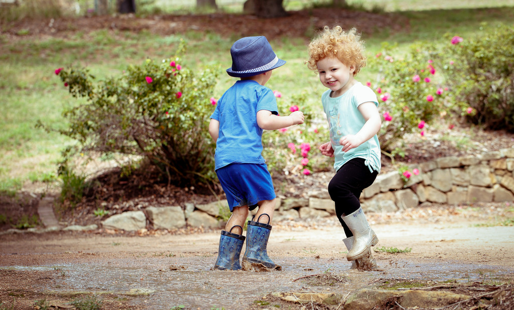 Puddle Fun by purdey