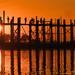 Sunset, U Bein bridge by golftragic
