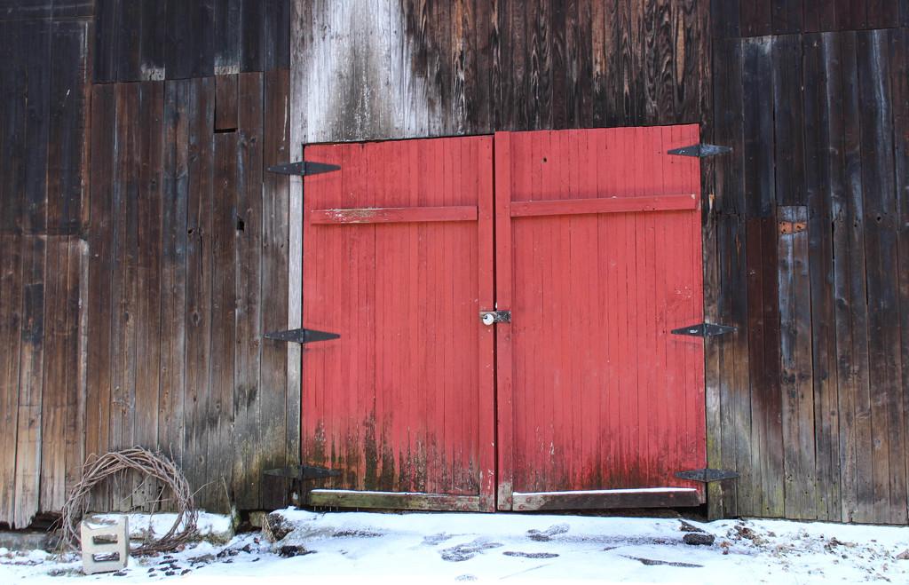 Barn door by mittens