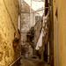 Backstreet alley, Pienza...Tina's photo, my edit