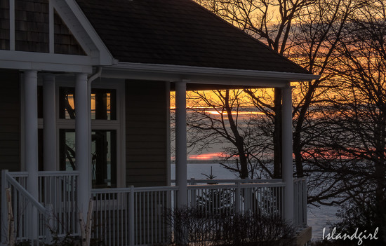 Sunset behind the house  by radiogirl