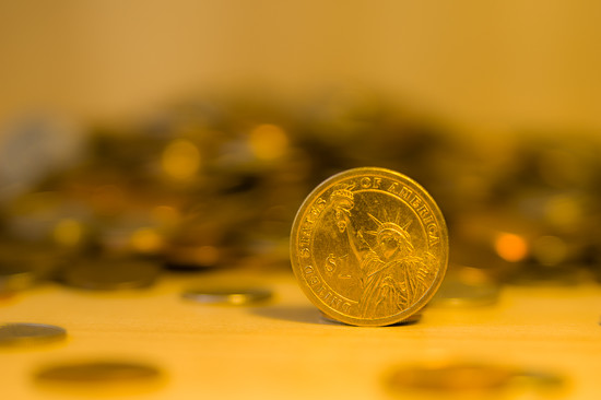 (Day 33) - Gold Dollar by cjphoto