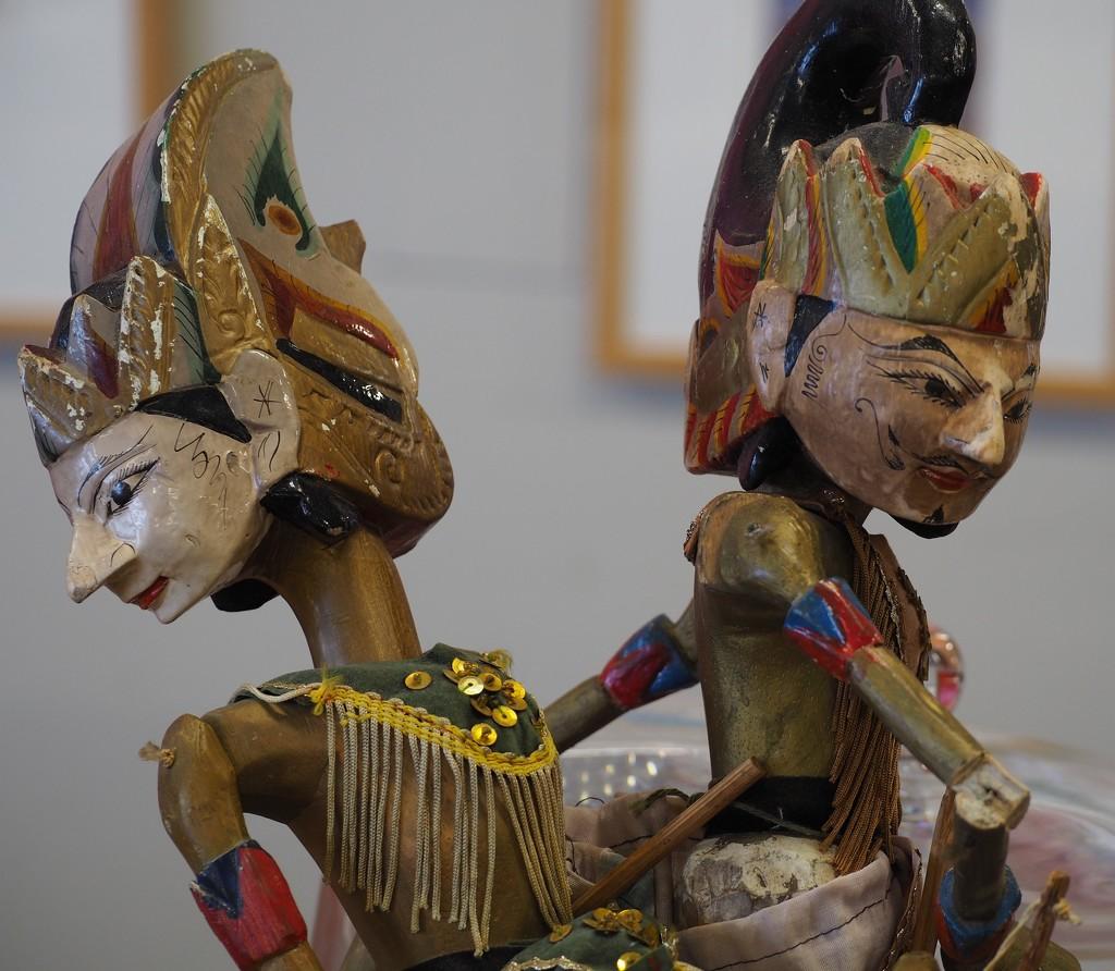 Wayang puppets by jacqbb