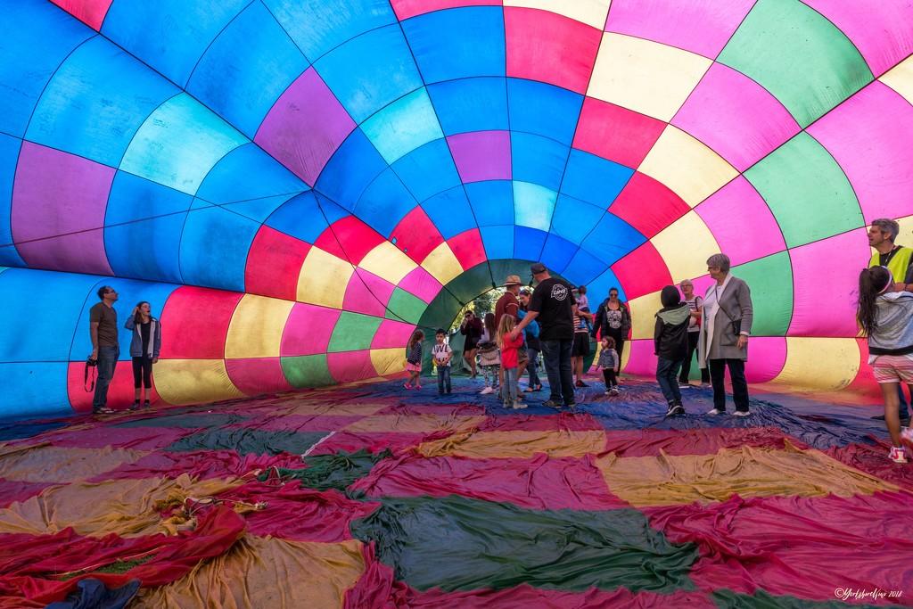 Inside a hot air balloon by yorkshirekiwi