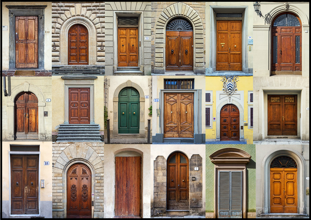 Doors of Florence by megpicatilly