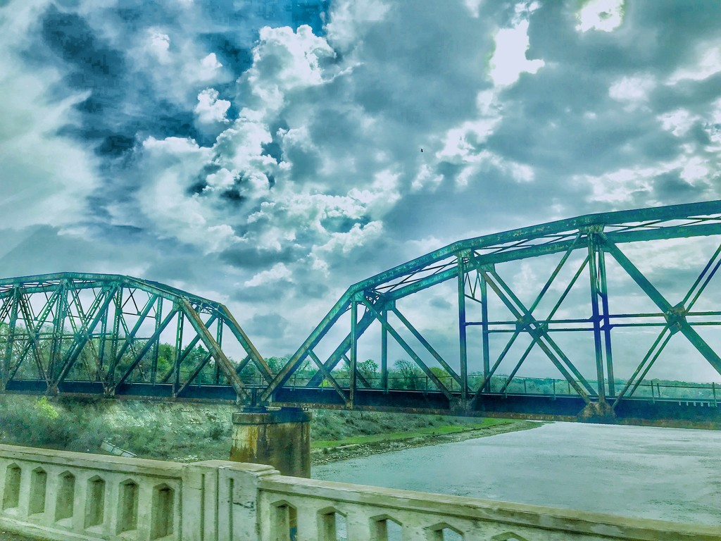 Crossing the Red River in HDR by louannwarren