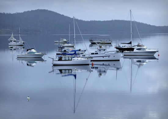Dunalley Harbour Reflections by judithdeacon