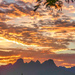Sunrise over the Helderberg. by ludwigsdiana
