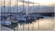 14th Apr 2018 - Caernarfon marina as the sun goes down
