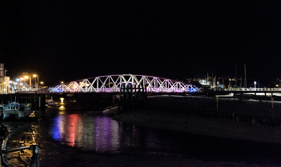 Ramsey IOM:  Technicolour Swing Bridge by vignouse