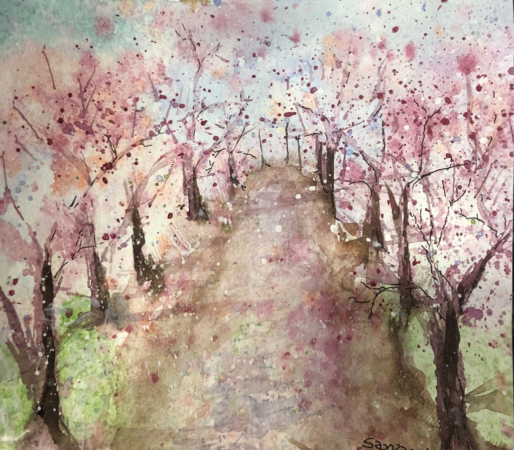 A watercolour by my friend  by veengupta