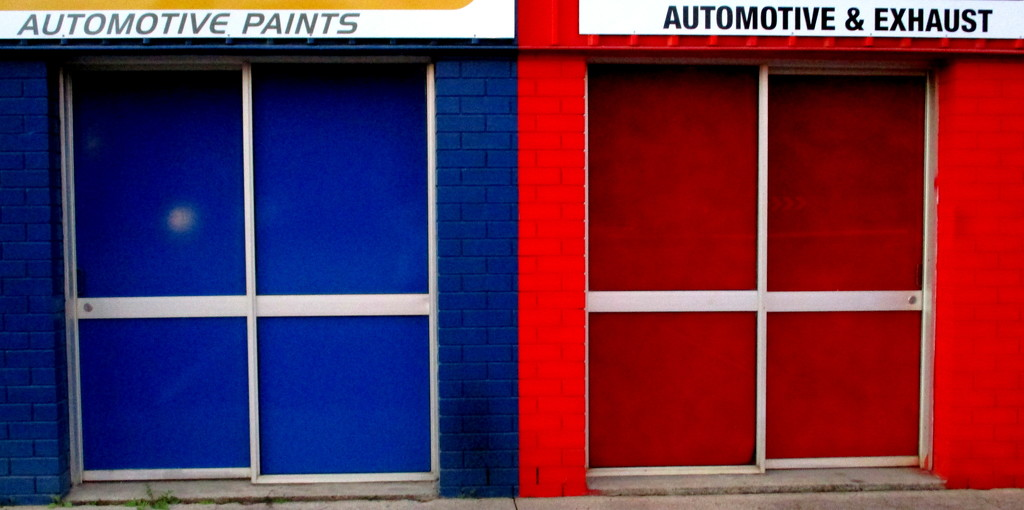 Doors of a paint shop!! by 777margo