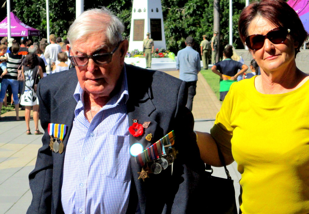 One of our Veterans at Nambour ANZAC Day Memorial this morning by 777margo